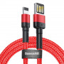 Кабель USB Lightning Baseus Cafule Special Edition Cable 1m Red