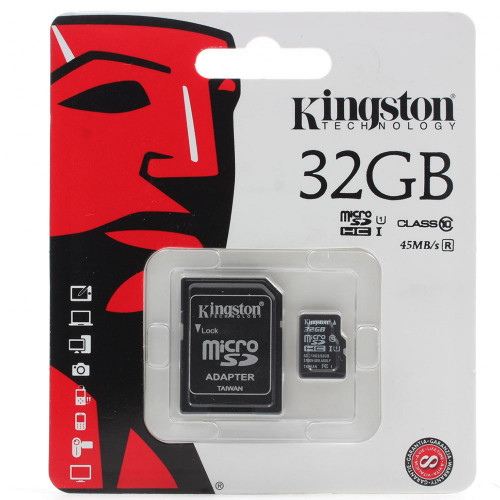 Карта памяти Micro SDHC Card Kingston 32GB (10 class)