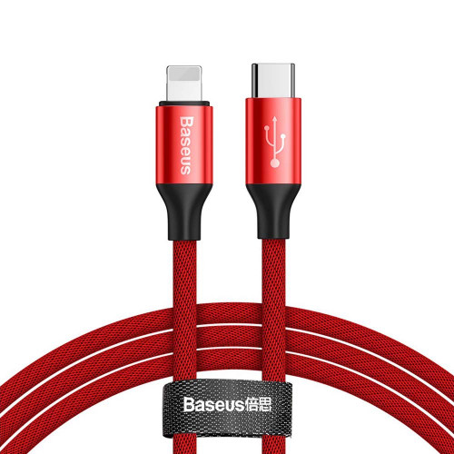Кабель Type-C Lightning Baseus Yiven Series 1m Red