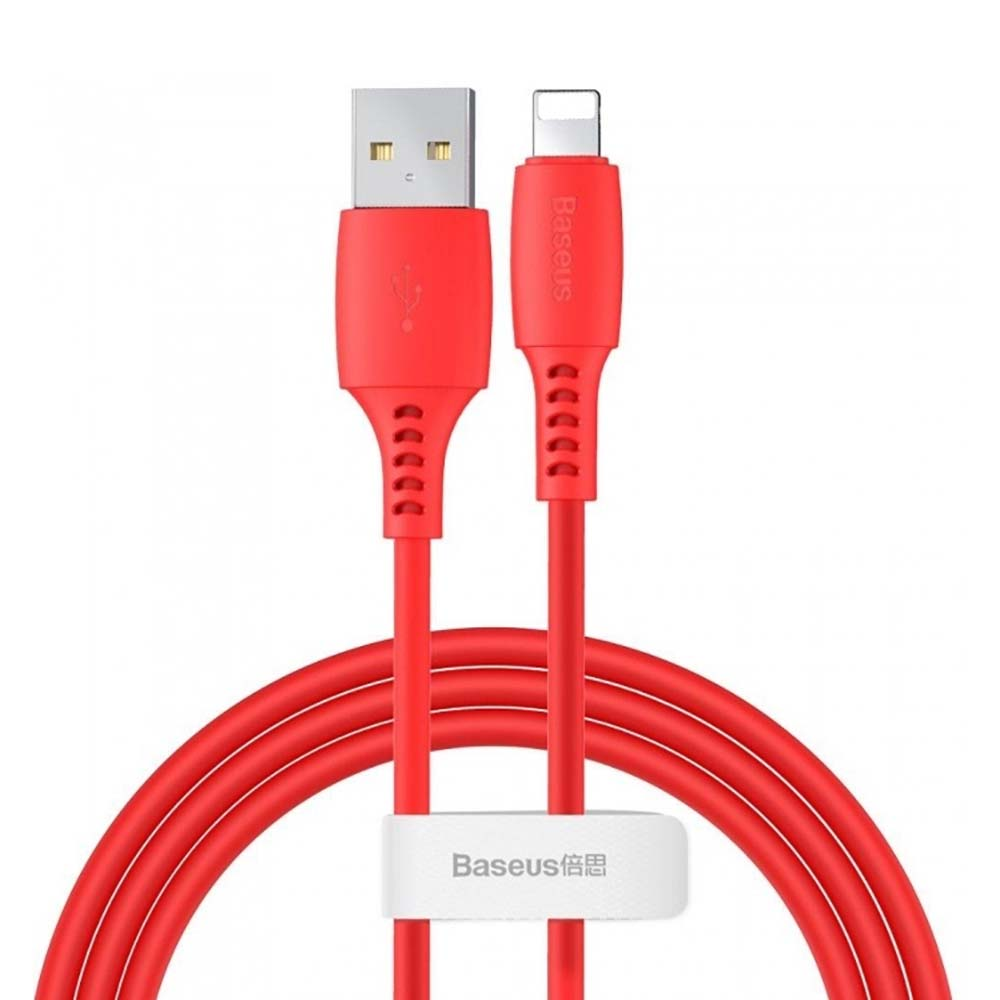 Кабель USB Lightning Baseus Colourful Cable 1.2m Red