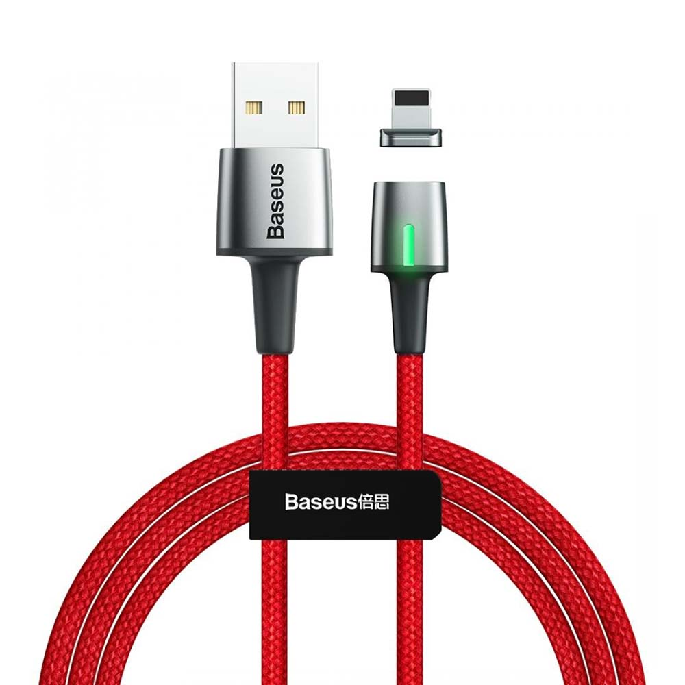 Кабель магнитный USB Lightning Baseus Zinc Magnetic Cable 1m Red